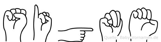 Signe im Fingeralphabet der Deutschen Gebärdensprache