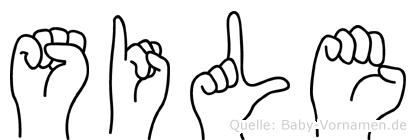 Sile im Fingeralphabet der Deutschen Gebärdensprache