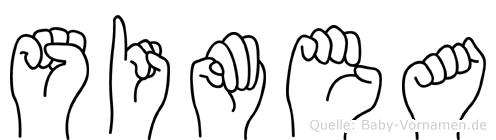 Simea im Fingeralphabet der Deutschen Gebärdensprache