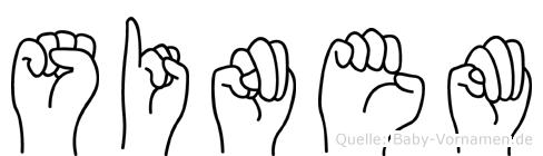 Sinem im Fingeralphabet der Deutschen Gebärdensprache