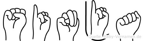 Sinja in Fingersprache für Gehörlose