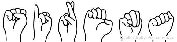 Sirena im Fingeralphabet der Deutschen Gebärdensprache