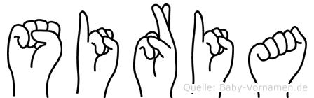 Siria in Fingersprache für Gehörlose