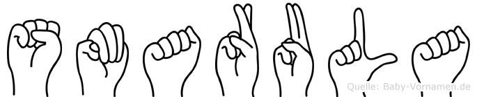 Smarula in Fingersprache für Gehörlose