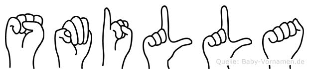 Smilla im Fingeralphabet der Deutschen Gebärdensprache