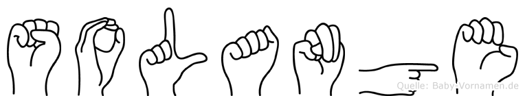 Solange im Fingeralphabet der Deutschen Gebärdensprache