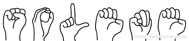 Solene im Fingeralphabet der Deutschen Gebärdensprache