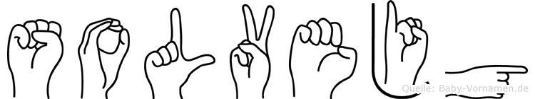 Solvejg im Fingeralphabet der Deutschen Gebärdensprache