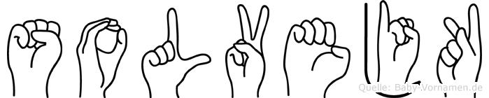 Solvejk im Fingeralphabet der Deutschen Gebärdensprache