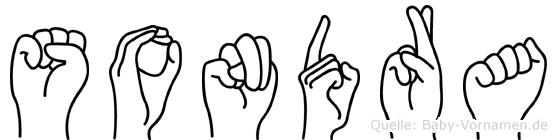 Sondra in Fingersprache für Gehörlose