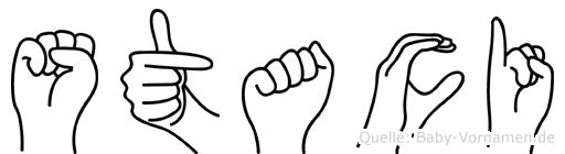Staci in Fingersprache für Gehörlose