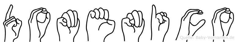 Domenico im Fingeralphabet der Deutschen Gebärdensprache