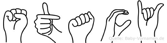 Stacy in Fingersprache für Gehörlose