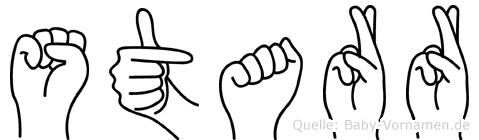 Starr in Fingersprache für Gehörlose