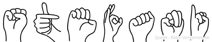 Stefani im Fingeralphabet der Deutschen Gebärdensprache
