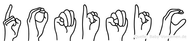 Dominic in Fingersprache für Gehörlose