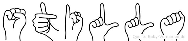 Stilla in Fingersprache für Gehörlose