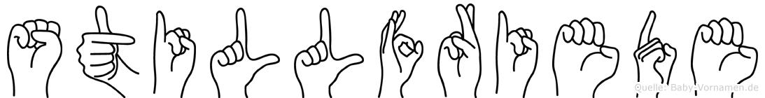 Stillfriede in Fingersprache für Gehörlose
