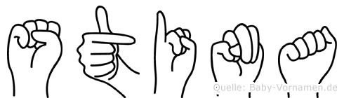 Stina in Fingersprache für Gehörlose