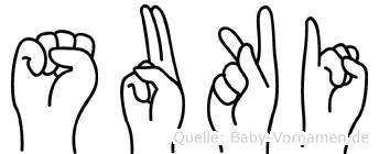 Suki im Fingeralphabet der Deutschen Gebärdensprache
