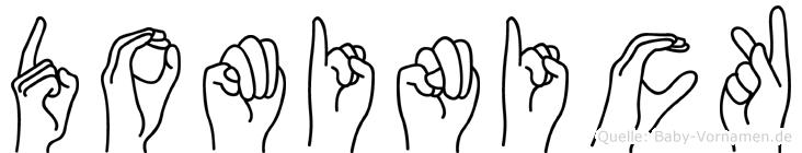 Dominick in Fingersprache für Gehörlose