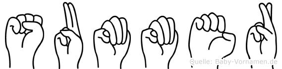 Summer in Fingersprache für Gehörlose