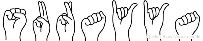 Surayya in Fingersprache für Gehörlose