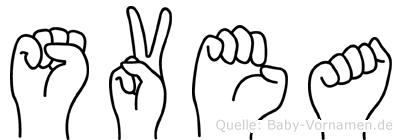 Svea in Fingersprache für Gehörlose