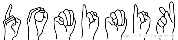 Dominik in Fingersprache für Gehörlose