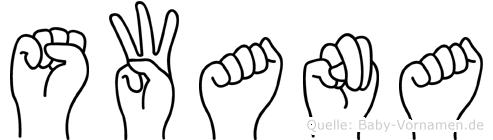 Swana im Fingeralphabet der Deutschen Gebärdensprache