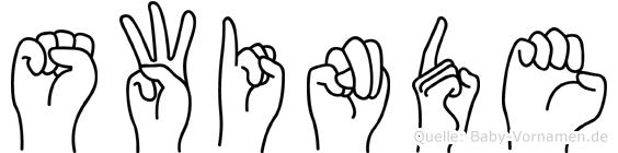 Swinde im Fingeralphabet der Deutschen Gebärdensprache
