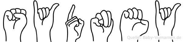 Sydney in Fingersprache für Gehörlose