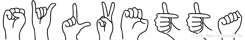 Sylvetta im Fingeralphabet der Deutschen Gebärdensprache