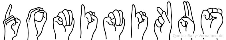 Dominikus in Fingersprache für Gehörlose