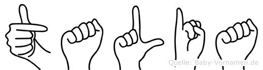 Talia in Fingersprache für Gehörlose