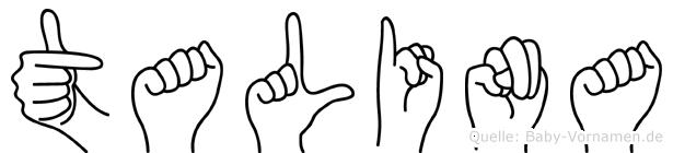 Talina in Fingersprache für Gehörlose