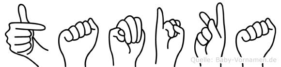 Tamika im Fingeralphabet der Deutschen Gebärdensprache