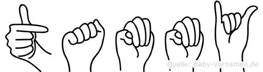Tammy im Fingeralphabet der Deutschen Gebärdensprache
