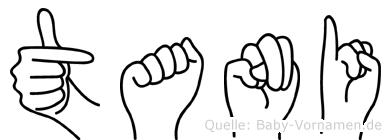 Tani in Fingersprache für Gehörlose