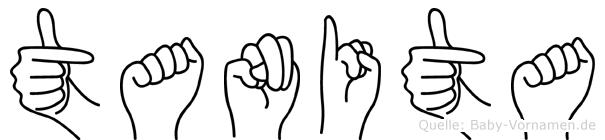 Tanita im Fingeralphabet der Deutschen Gebärdensprache