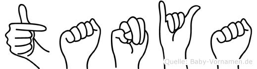 Tanya im Fingeralphabet der Deutschen Gebärdensprache