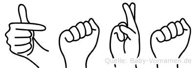 Tara in Fingersprache für Gehörlose