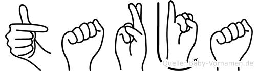 Tarja im Fingeralphabet der Deutschen Gebärdensprache