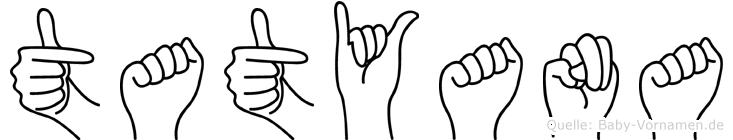 Tatyana im Fingeralphabet der Deutschen Gebärdensprache