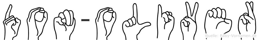 Don-Oliver im Fingeralphabet der Deutschen Gebärdensprache