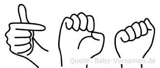 Tea in Fingersprache für Gehörlose