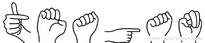 Teagan in Fingersprache für Gehörlose