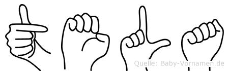 Tela in Fingersprache für Gehörlose