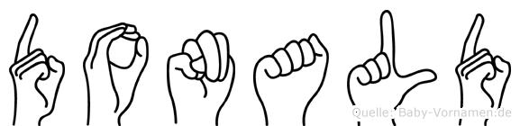 Donald in Fingersprache für Gehörlose