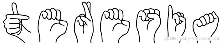 Teresia in Fingersprache für Gehörlose
